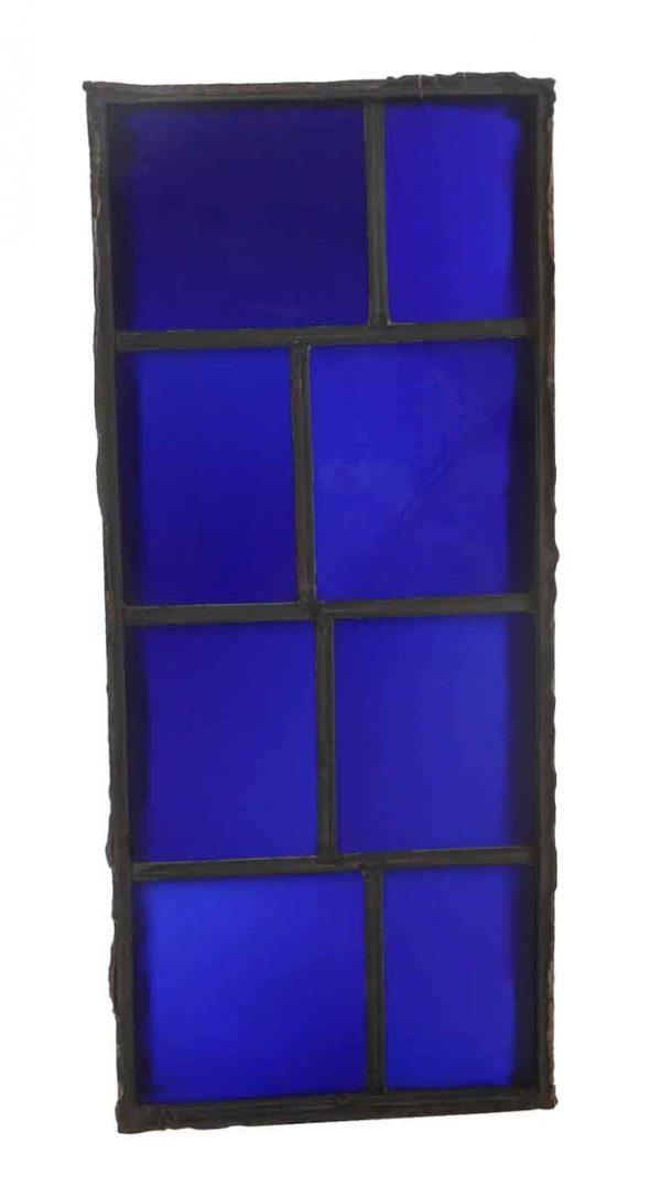 Exclusive Glass - JFK Blue Glass Leaded Window