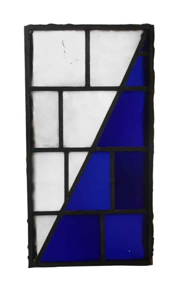 Exclusive Glass - JFK Blue & White Leaded Glass Window