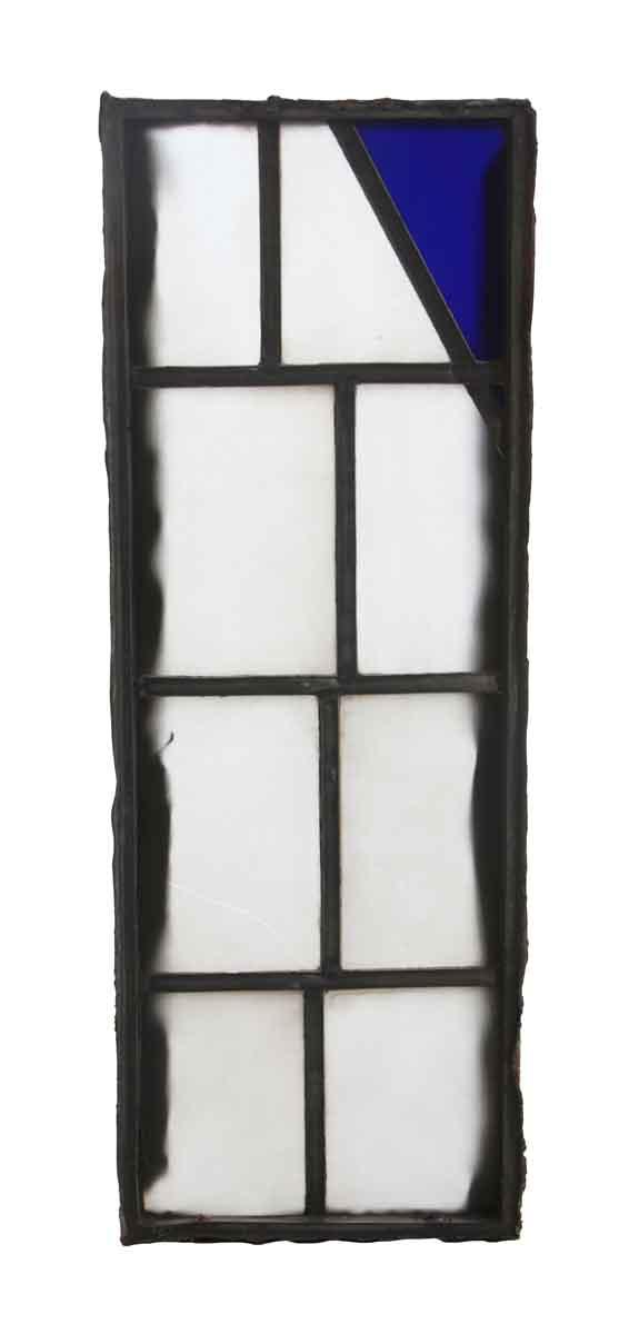 Exclusive Glass - White & Blue JFK Leaded Glass Window