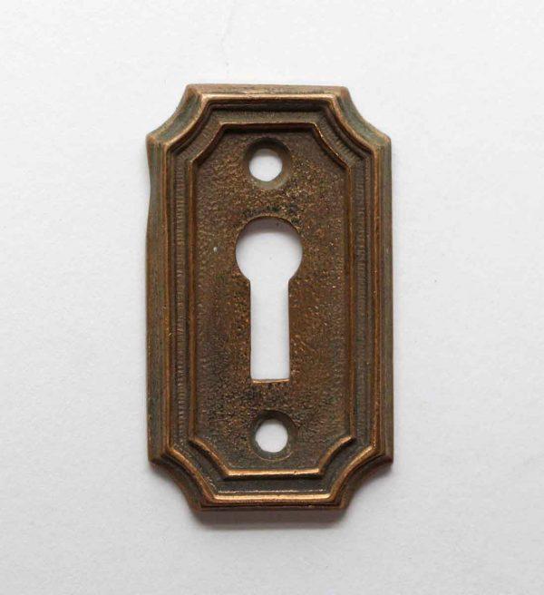 Keyhole Covers - Art Deco Cast Bronze Keyhole Plate