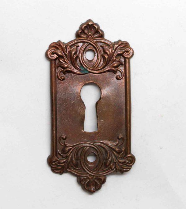 Keyhole Covers - Brass Ornate Antique Keyhole Plate