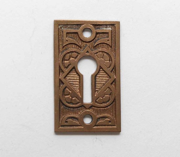 Keyhole Covers - Bronze Floral Aesthetic Antique Keyhole Plate