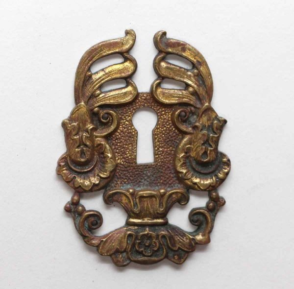 Keyhole Covers - Highly Ornate French Brass Keyhole Plate