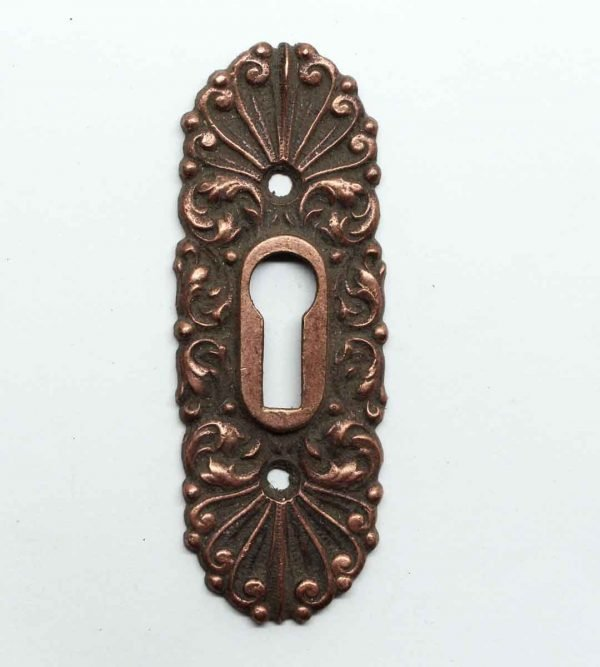 Keyhole Covers - Highly Ornate Victorian Brass Escutcheon Plate