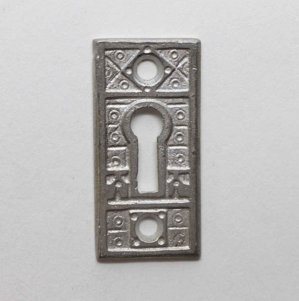 Keyhole Covers - Nickel Plated Aesthetic Brass Keyhole Plate