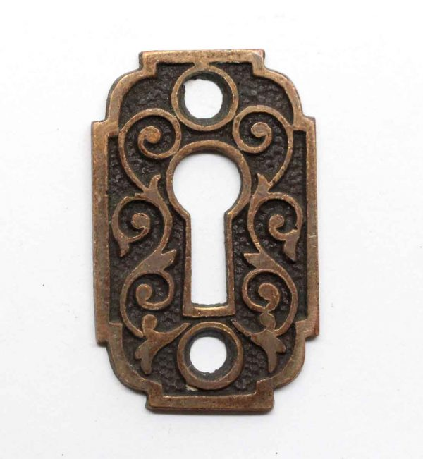 Keyhole Covers - Ornate Victorian Bronze Escutcheon Plate