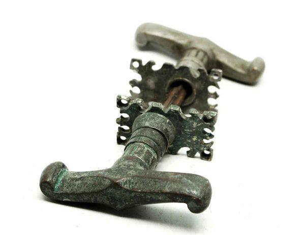 Levers - Nickel Plated Tudor Arts & Crafts Door Knobs