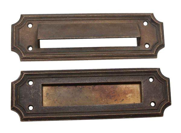 Mail Hardware - Antique Bronze Mail Slot & Back Set