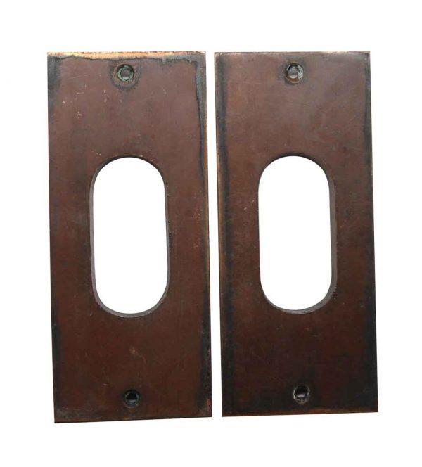 Pocket Door Hardware - Brass Pair of Antique Pocket Door Pull Plates