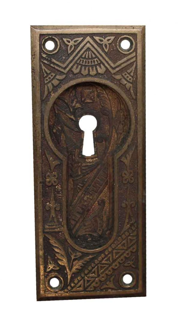 Pocket Door Hardware - Bronze Pocket Door Keyhole Plate