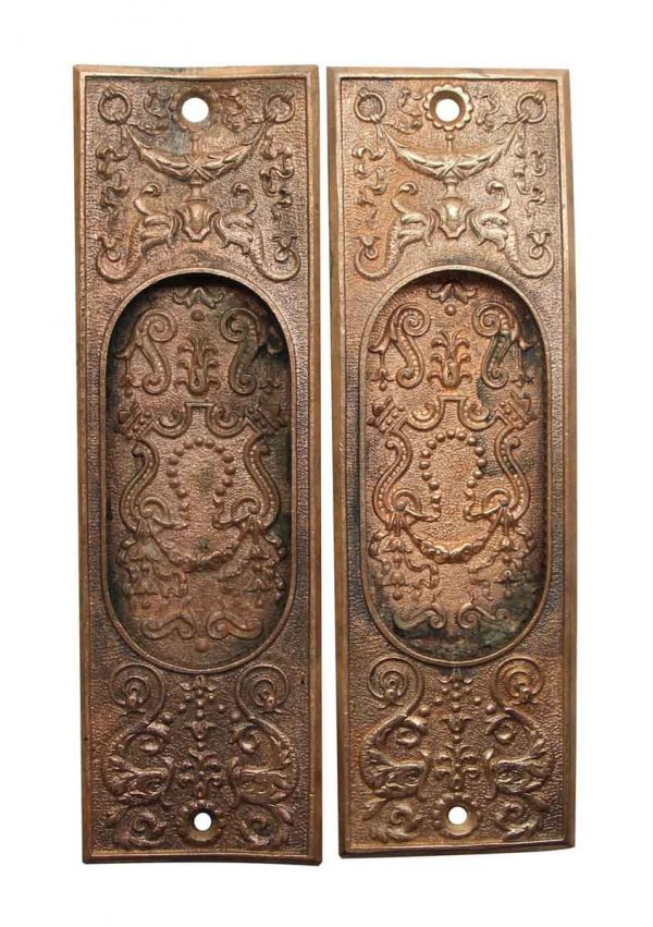 Pocket Door Hardware - Pair of Victorian Pocket Door Plates