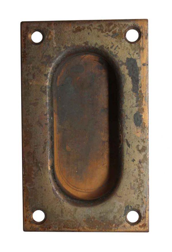 Pocket Door Hardware - Recess Brass Pocket Door Pull