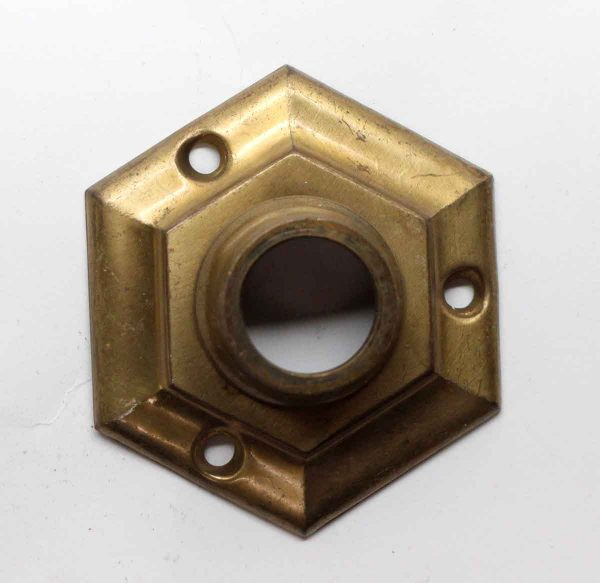 Rosettes - Brass Hexagon Shaped Deep Neck Rosette