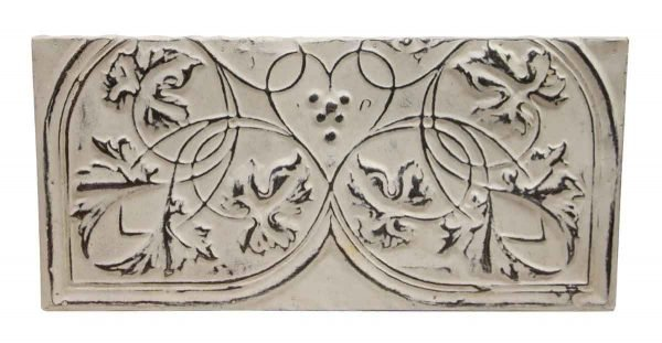 Tin Panels - Decorative White Heart Antique Tin Panel