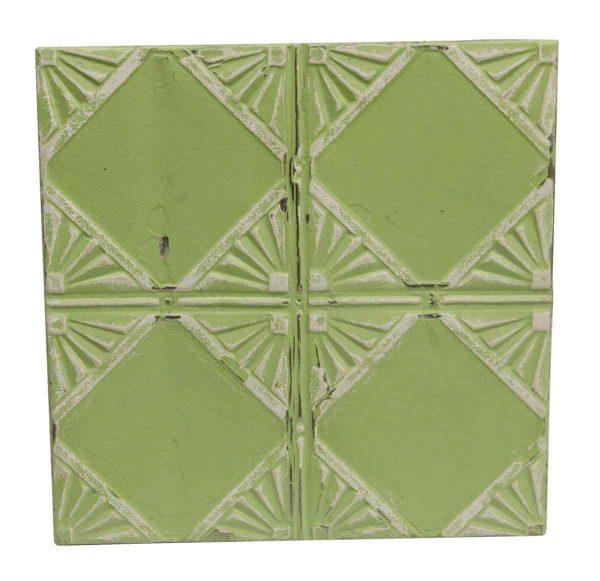 Tin Panels - Lime Green Antique Art Deco Tin Panel