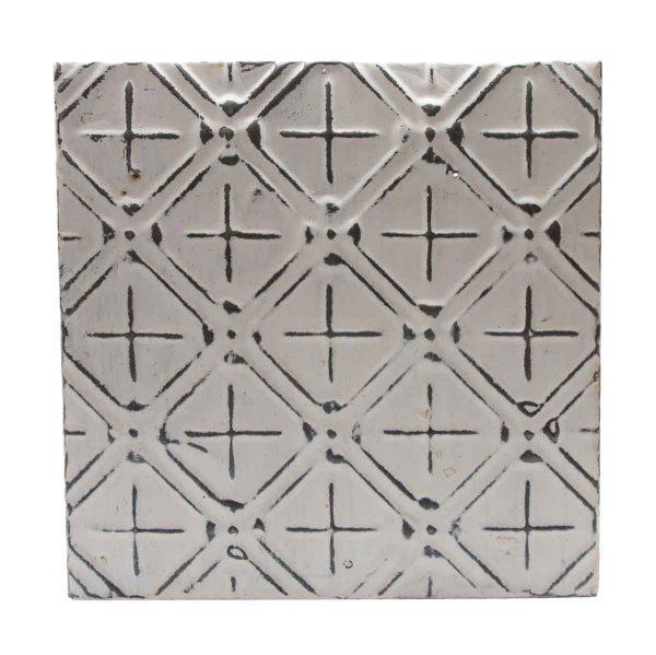 Tin Panels - White Decorative Pattern Antique Tin panel