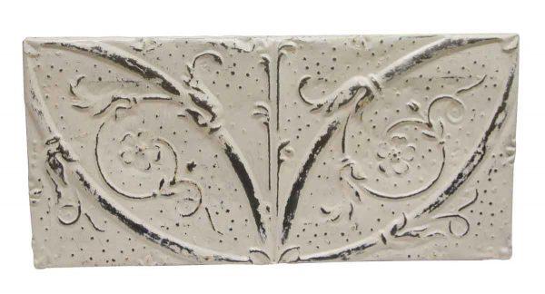Tin Panels - White Floral Horizontal Antique Tin Panel