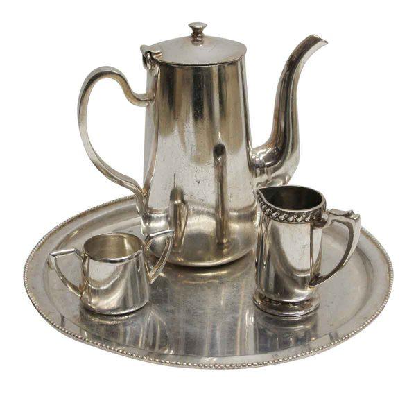 Waldorf Astoria - Four Piece Silver Plated Waldorf Astoria Tea Set