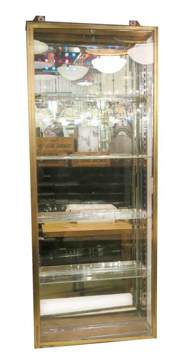 Armoires & Vitrines - Brass Vitrines from Paris with Beveled Glass