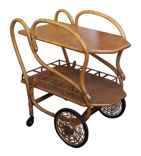 Carts - 1950s Bamboo Tea or Bar Cart