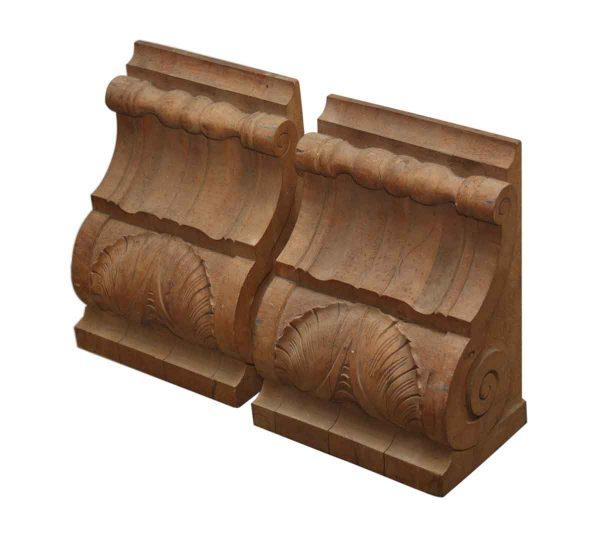 Corbels - Pair of Carved Oak Corbels