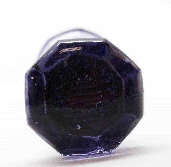 Door Knobs - Pair of Purple Octagon Glass Door Knobs