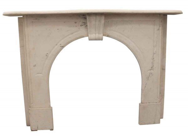 Marble Mantel - Antique Classic White Marble Mantel