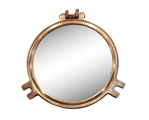 Nautical Antiques - Circular Bronze Porthole Mirror