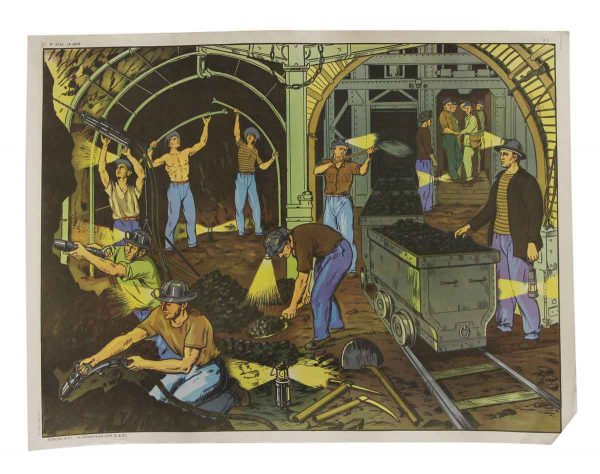 Posters - Vintage French Mines & The Port School PosterDouble Sided