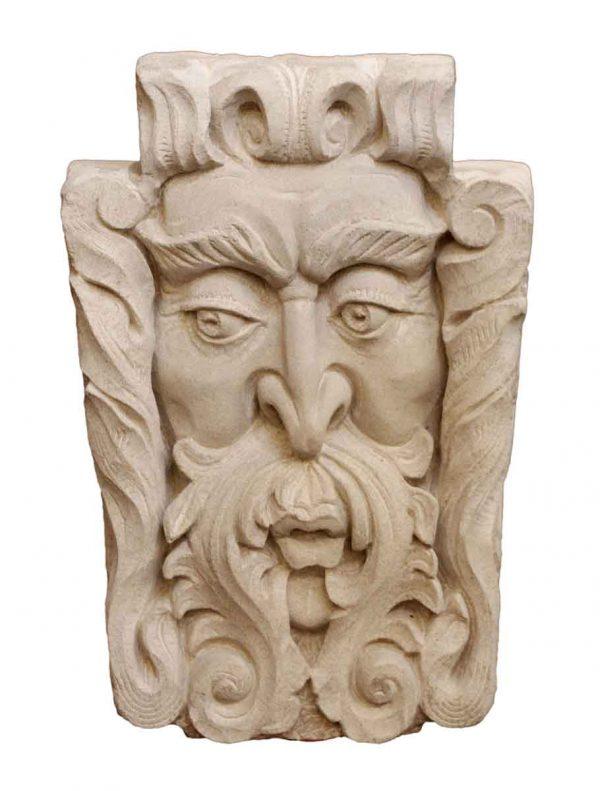 Stone & Terra Cotta - Figural Windface Limestone Frieze