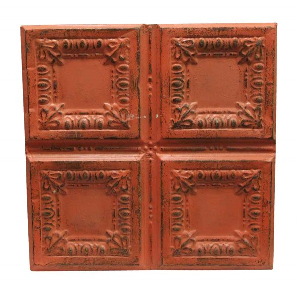 Tin Panels - Orange Antique Quadrant Tin Panel