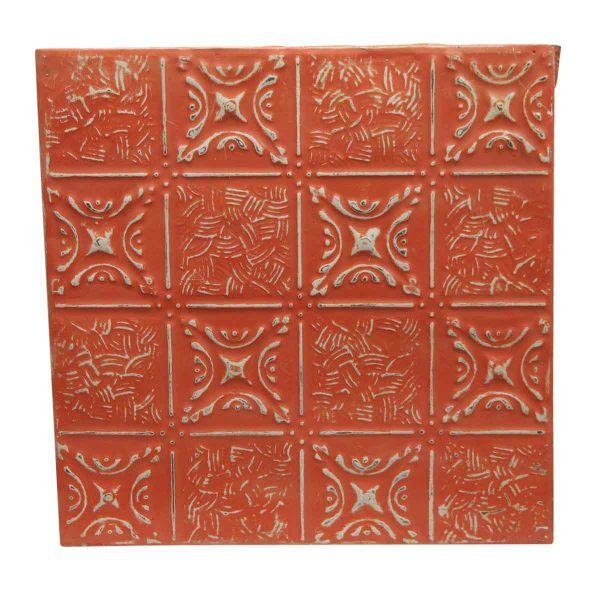 Tin Panels - Orange Mixed Pattern Repro Tin Panel