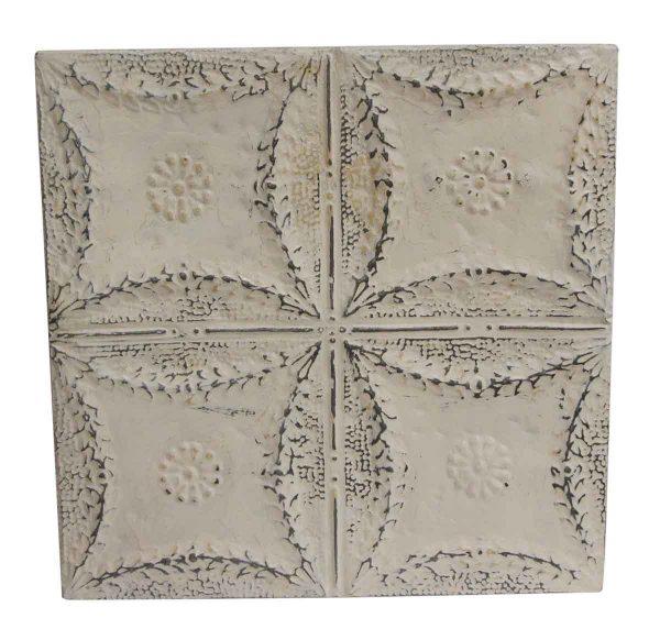 Tin Panels - Quadrant Floral White Tin Panel