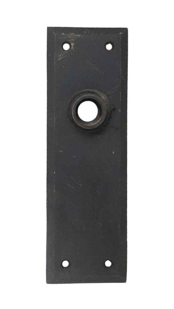 Back Plates - Cast Iron Black Door Back Plate