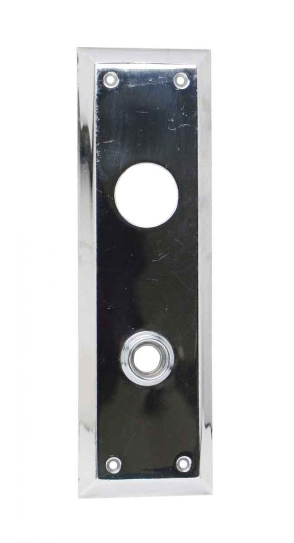 Back Plates - Chrome Over Brass Door Back Plate