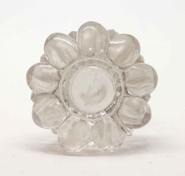 Bottle Stoppers - Clear Glass Floral Vintage Stopper