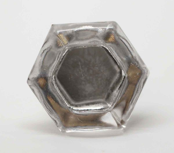 Cabinet & Furniture Knobs - Glass Hexagon Shaped Drawer Pull