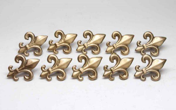 Cabinet & Furniture Knobs - Set of 10 Fleur de Lis Gold Drawer Knobs