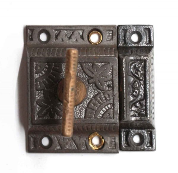 Cabinet & Furniture Latches - Antique Aesthetic Iron Cabinet Latch with Bronze Handle
