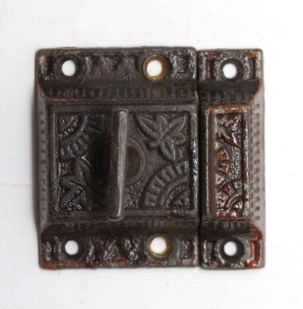 Cabinet & Furniture Latches - Antique Cast Iron Cabinet High Profile Latch