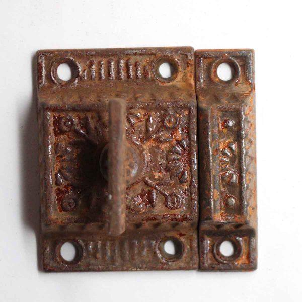 Cabinet & Furniture Latches - Antique Iron Ornate High Profile Cabinet Latch