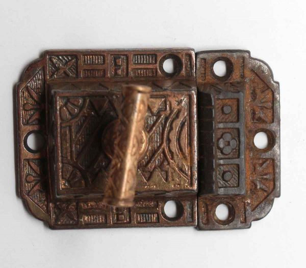 Cabinet & Furniture Latches - Bronze Washed Cast Iron Cabinet Latch