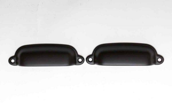 Cabinet & Furniture Pulls - Pair of Brass Repro Bin Pulls