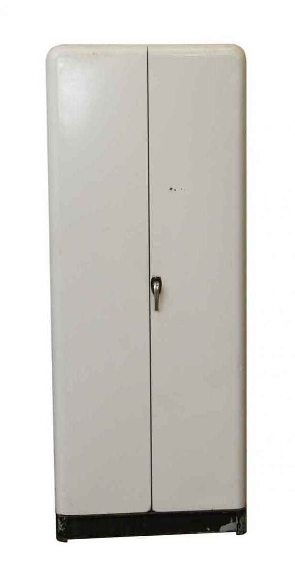 Cabinets - Salvaged 2 Door Metal Shelved Cabinet