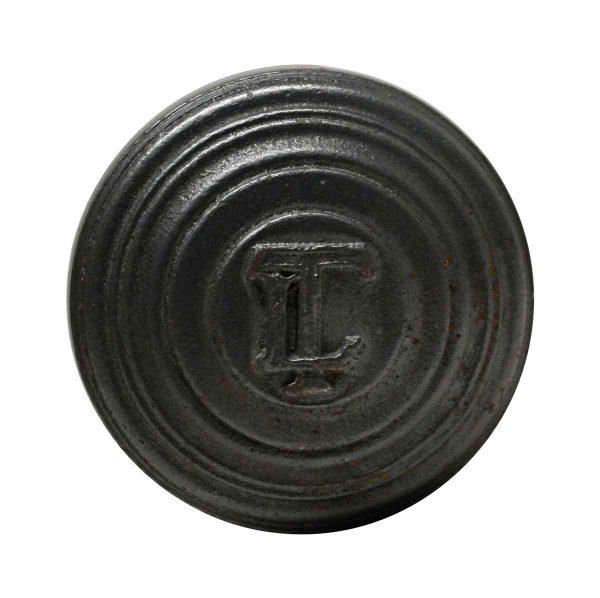 Door Knobs - Iron LT Emblematic Black Iron Door Knob