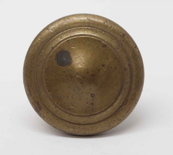 Door Knobs - Large Cast Brass Single Concentric Entry Door Knob