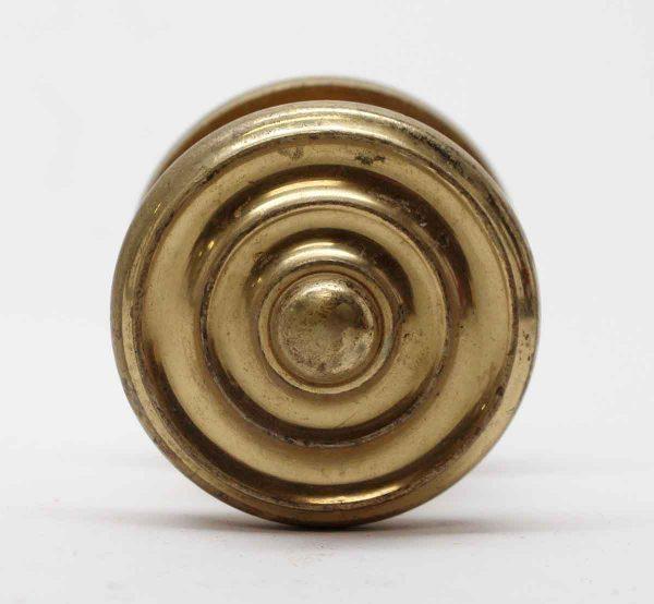 Door Knobs - Vintage Cast Brass Polished Entry Door Knob & Rosette
