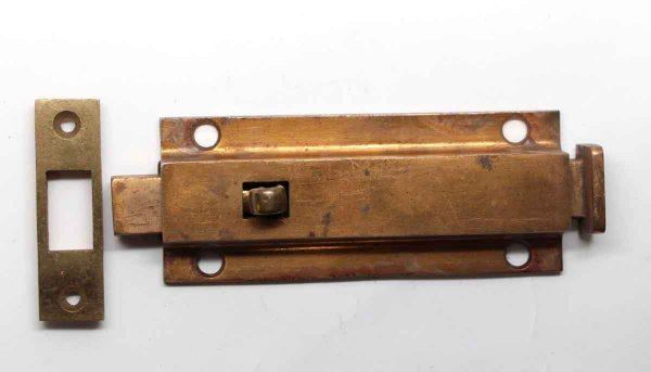 Door Locks - Polished Brass Over Steel Door Bolt Lock