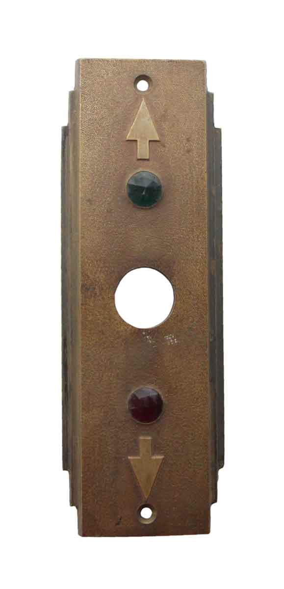 Elevator Hardware - 1940s Art Deco Bronze Elevator Plate