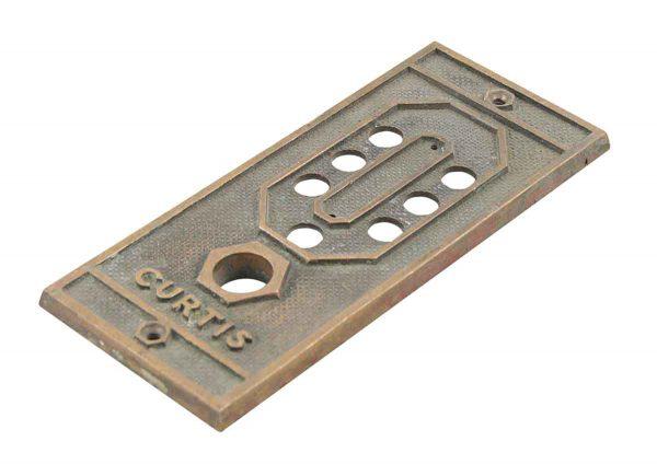 Elevator Hardware - Curtis Cast Bronze Elevator Plate